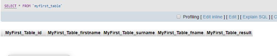 MySql Create Table