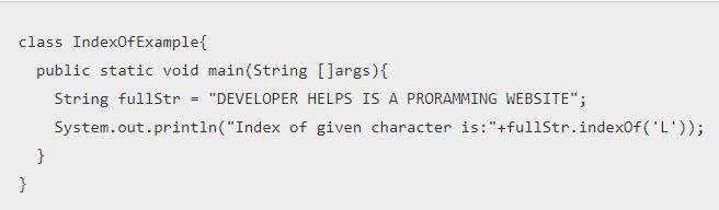 Java String indexOf()