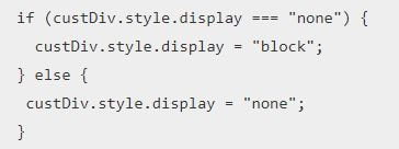 JavaScript Display None Property