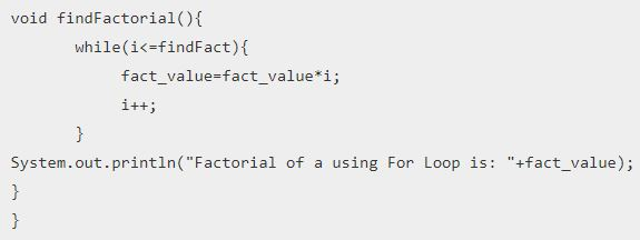 Factorial Program in Java