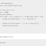 Java Program to Check Leap year