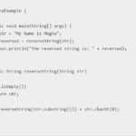 Java program to reverse a string