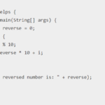 Java program to reverse a number