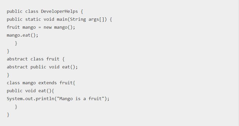 Concrete Class in Java