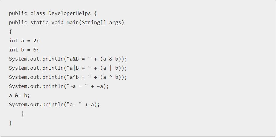 Java bitwise operators