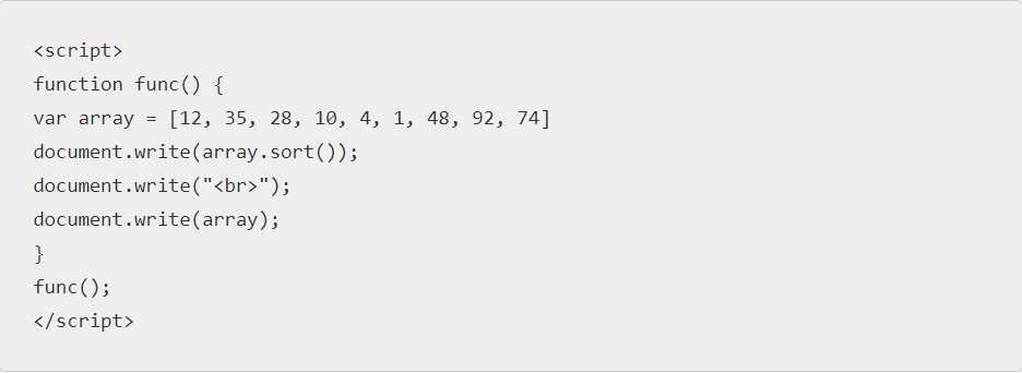 Bubble Sort Javascript