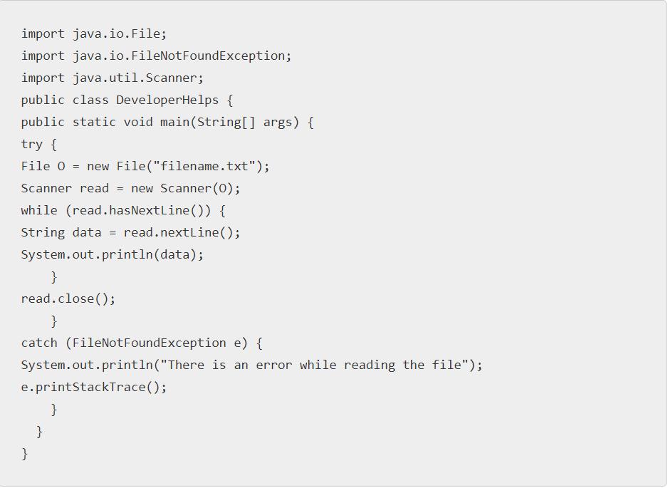 Java read files