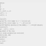 Python Class Constructor