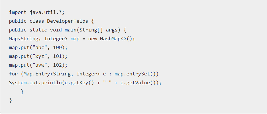 Java Map Example