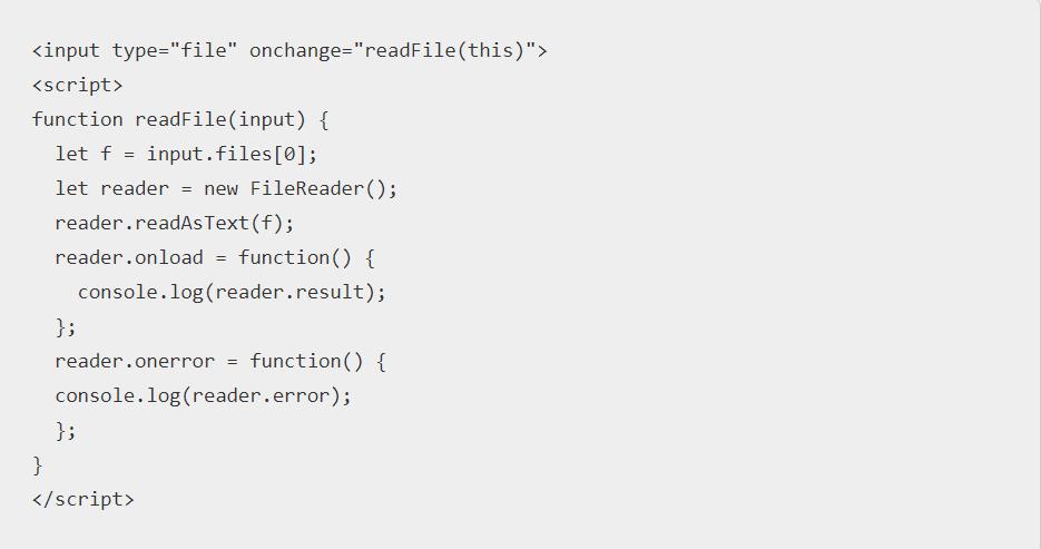 Javascript read file