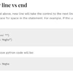 Python new line
