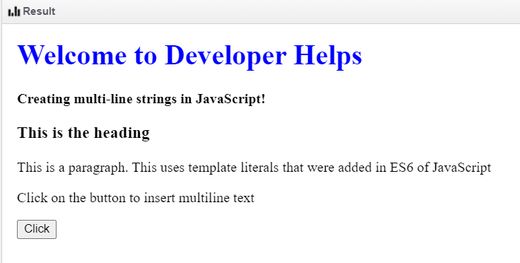 javascript multiline string