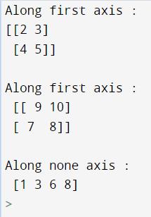 Python NumPy Sorting