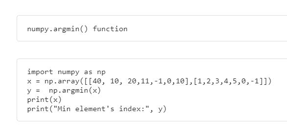 Python NumPy Searching